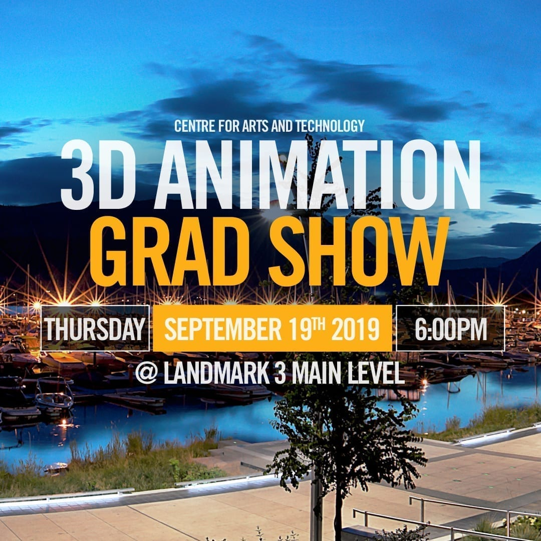3d animation, grad, centre for arts and tech