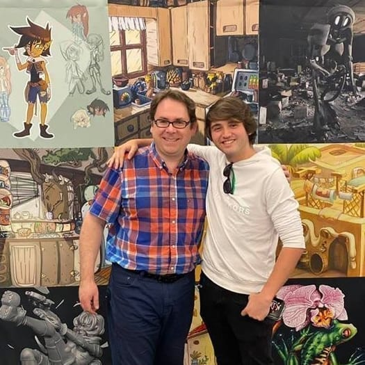 Sean Ridgway with Animation Info Session attendee in Mexico City.